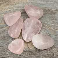 6pcs Pink Healing Crystal Quartz Polished For Decoration Health