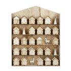 Meilleur prix Wooden Hanging Decorations Christmas Advent Calendar Elk House Fit 25 Chocolates Stand Decor Gifts
