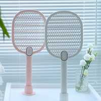 3life Electric Mosquito Swatter Mosquito Dispeller Rechargeable LED Electric Insect Bug Fly Mosquito Killer Racket 3-Layer Net