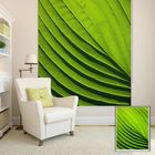 Meilleurs prix PAG Green Leaf Wall Decor Window Curtain Roller Shutters Print Painting Roller Blind Background