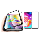 Wholesale Price Bakeey Magnetic Adsorption Aluminum Alloy Tempered Glass Protective Case + Mofi 2.5D Tempered Glass Screen Protector For Samsung Galaxy A70 2019