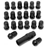 20Pcs M12x1.5 Steel Car Wheels Rims Lug Nuts With Key Extended Tuner Lock Kit