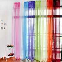 Translucent Sheer Tulle Voile Organdy Curtain Drape Wedding Decor for Door Window Vestibule Room