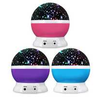 USB Rotating Projector Starry Nursery Night Light Star Sky Projection LED Light Xmas Gift