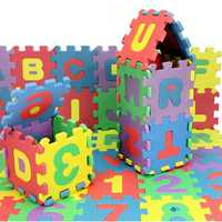 72pcs Baby Kids Mini EVA Foam Alphabet Letters Number Mat 3D Puzzles Educational Toys