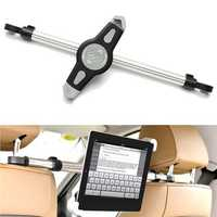 360° Adjustable Universal Aluminum Alloy Car Back Seat Head Rest Mount Tablet iPad Stand Holder