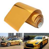 10cmx150cm Gold Vinyl Wrap Film Car Sticker Decal Air Bubble Free