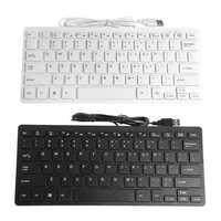 78 Keys Slim Mini USB Wired Keyboard for Notebook Laptop Computer