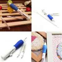 Magic Props Plastic DIY Embroidery Pen Set Clothes Punch Needle Sewing Accessories Toys Kids Gift