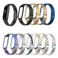 Bakeey Colorful Stainless Steel Watch Band Replacement Watch Strap for Xiaomi mi band 3