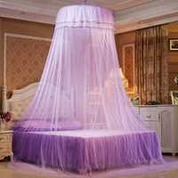 Elegant Ceiling Round Mosquito Net Romantic Butterfly Princess Insect Bed Canopy Netting Lace Curtain For Bedding Mosquito Nets
