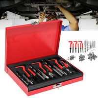 88Pcs Thread Repair Tool Helicoil Metric Rethread M6 M8 M10 Stainless Steel Kit