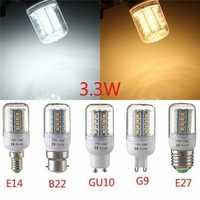 E27/E14/G9/GU10/B22 3.3W 30 SMD 2835 LED Corn Bulb Warm White/White 110V