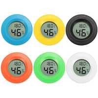 Mini Digital LCD Temperature Humidity Meter Thermometer Hygrometer Round