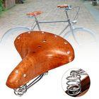 Promotion BIKIGHT Genuine Leather Cycling Bicycle Saddle Seat Comfortable Riding Cushions Bike Saddle