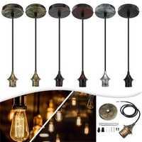 E27 Flex Fabric Romantic Pendant Light Holder Fitting Lighting Chandeliers Decoration AC110-220V