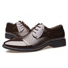 Meilleurs prix Men Leather Formal Business Lace Up Oxfords Shoes