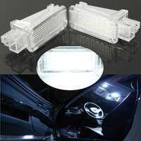 Pair LED Interior Light Door Courtesy Footwell Luggage Lamp For AUDI VW SKODA Lambo