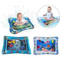 PVC Inflatable Water Cushion Baby Kids Tummy Water Play Fun Toys Ice Mat Pad