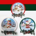 Acheter Christmas Party Home Decoration Snow Music Wreath Ornament Toys For Kids Children Gift