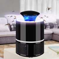 USB LED Electric Mosquito Killer Lamp Fly Insect Bug Trap Zapper Light Indoor Safe