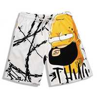 S5262 Beach Shorts Board Shorts 3D Old man Cartoon Printing Fast Drying Waterproof Elasticity