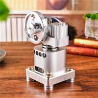 SaiDi Vertical Type Stirling Engine Full Metal Engine Model Gift Collection With Random Free Gift