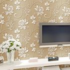 Les plus populaires 10M Concave-convex Wallpapers 3D Embossed Textured Non-woven Flocking Wallpaper Rolls