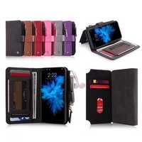 POLA Magnetic Detachable Wallet Card Slot Case For iPhone X/8/8 Plus/7/7 Plus/6s/6s Plus/6/6 Plus