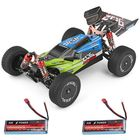 Promotion Wltoys 144001 1/14 2.4G 4WD High Speed Racing RC Car Vehicle Models 60km/h Two Battery 7.4V 2600mAh