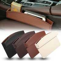 Universal Leather Car Seat Crevice Gap Storage Box Pocket Organizer Phone Holder
