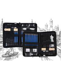HB-TZ60 Professional Sketching Drawing Pencil Kit Carry Bag Art Painting Tool Set