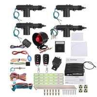 Remote Control Car Alarm System Keyless Entry Security 2 4 Door Power Lock Actuator Motor Kit