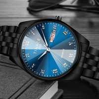 TINACE Men Luminous Display Day Week Display Quartz Watch