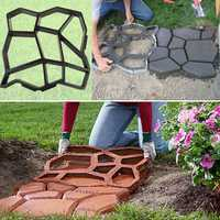 Garden DIY Plastic Path Maker Mold Manually Paving Courtyard Stone Road Cement Brick Mold Auxiliary Tools