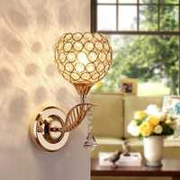 E27 Modern Crystal Wall Light Living Room Corridor Balcony Lamp 220V