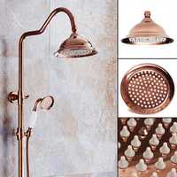203x130mm Luxury European Chrome Golden Color Shower Spray Bathroom Faucet Bath Set Accessories