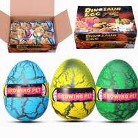 12PCS Huge 6cm Dinosaur Egg Package Wholesale Hatching Growing Magic Water Novelties Toys With Box