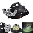 Acheter XANES 2500LM 3T6+4XPE 4 Switch Modes USB Charging 90 ° Rotation White Light Deformation Bicycle Headlamp