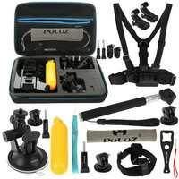 PULUZ PKT11 20 in 1 Accessories Combo Kit with EVA Case for Action Sportscamera