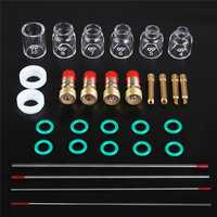 30Pcs TIG Welding Accessories Torch Stubby Gas Len Glass Cup for WP-9/20/25
