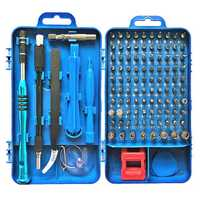 110 in 1 Insulation Screwdriver Set With Tweezer Magnetic Bits Kits DIY Watch Phone Electronics Repairing Tools