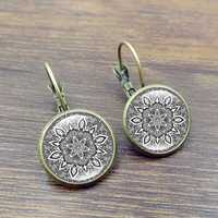 Retro Datura Ear Drop Earrings