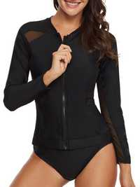 Split Long-Sleeved Sun Protection Slim Swimwear