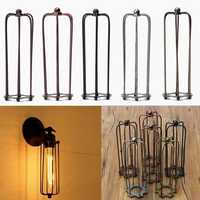 230MM DIY Vintage Pendant Trouble Light Bulb Guard Wire Cage Ceiling Hanging Lampshade