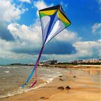 26''×30'' Diamond Delta Kite Outdoor Sports Toys For Kids Single Line Blue Toys