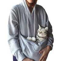 Mens Winter Pets Baby Care Brood Pouch Fleece Sweatshirt
