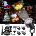 Promotion Waterproof Colorful Santa Claus Pattern LED Christmas Moving Laser Projector Landscape Stage Light