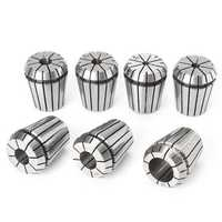 7pcs ER32 3/16 to 3/4 Inch Spring Collet Set Chuck Collet For CNC Milling Lathe Tool