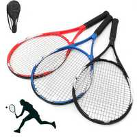 27inch Tennis Racket Racquet Carbon Fiber Equipped Anti-skid Handle Grip With Bag